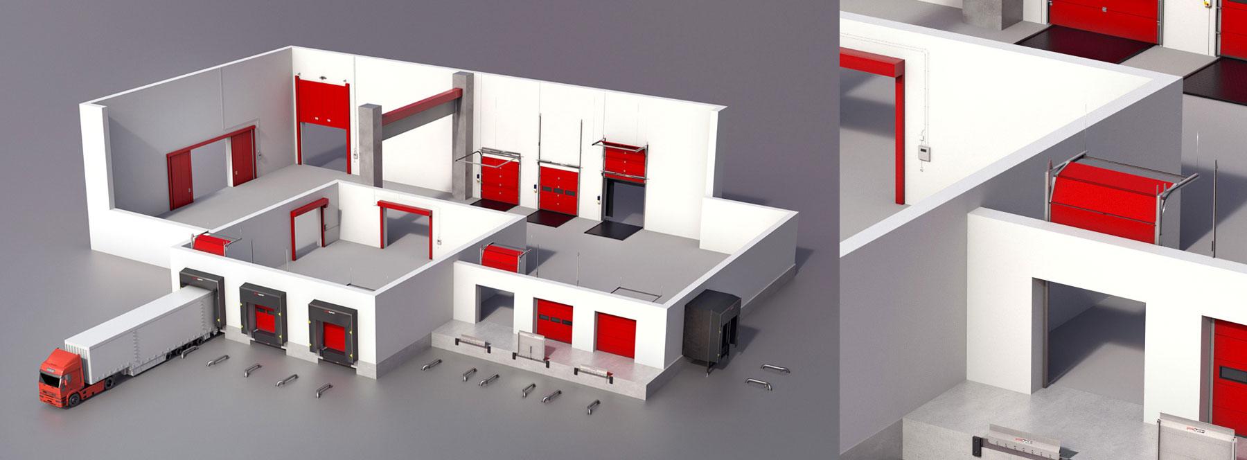Wizualizacje 3D Bram / <span>Global System</span>