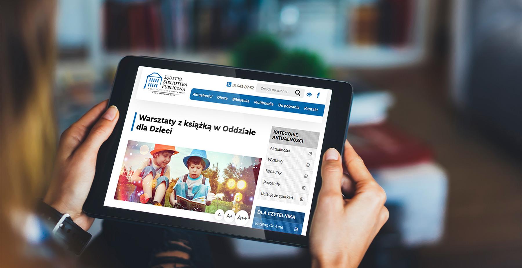 Biblioteka Nowy Sącz / <span>Responsywna strona internetowa</span>