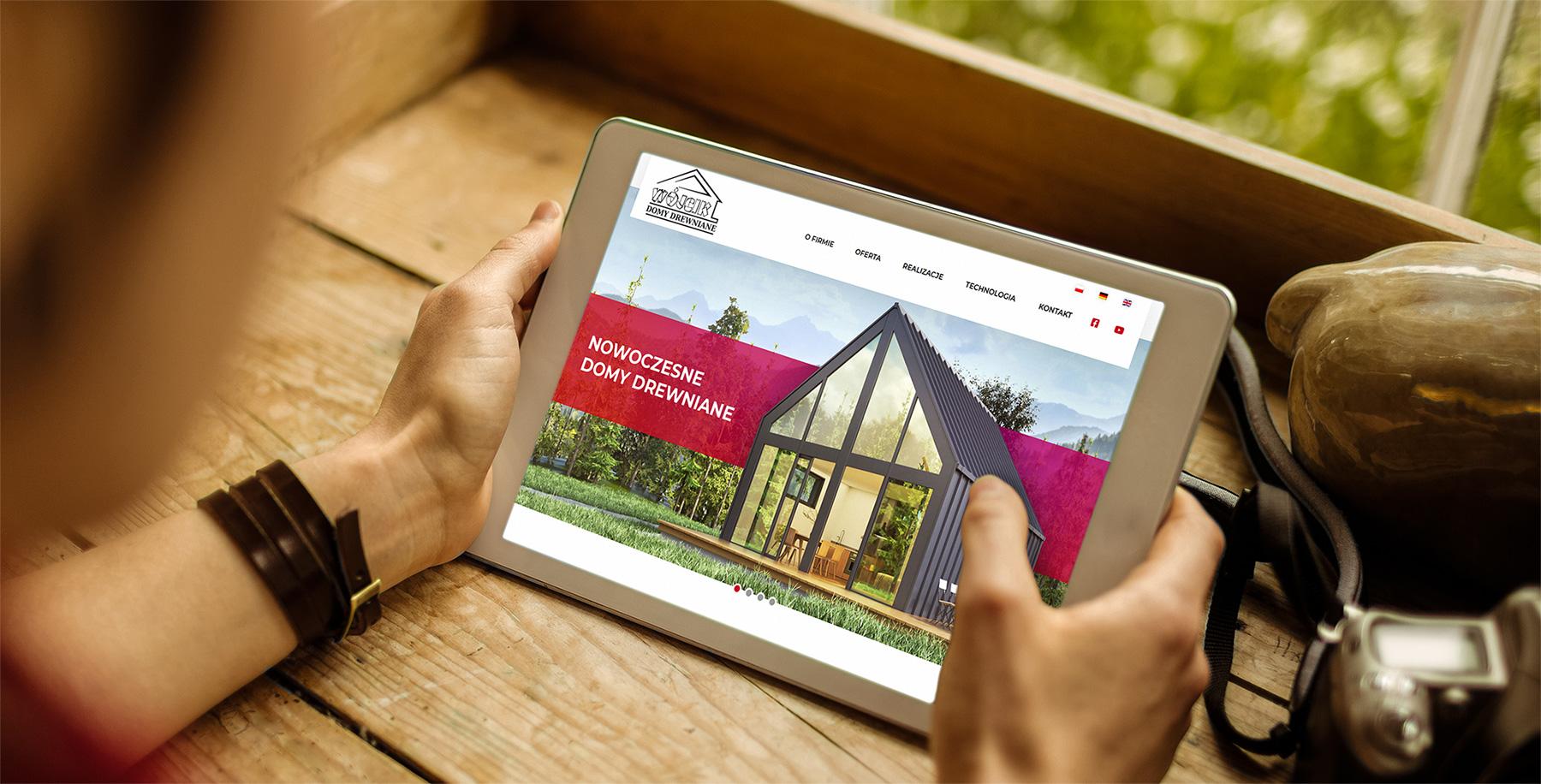 Domy Drewniane Wójcik / <span>Strona internetowa z wizualizacjami 3D</span>